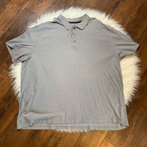 Alfani men's polo in a grey sz 4XLT big and tall